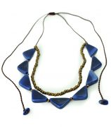 nina necklace blue